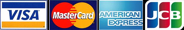 VISA, Mastercard, Amex, JCB