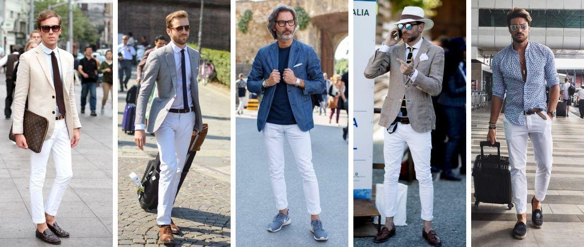 5 modi per abbinare i jeans bianchi da uomo