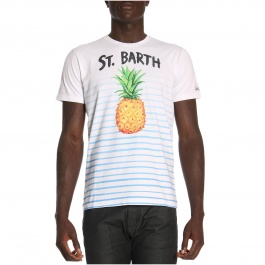 Camiseta Mc2 Saint Barth TSHIRT MAN PINEAPPLE WATERLINES 01