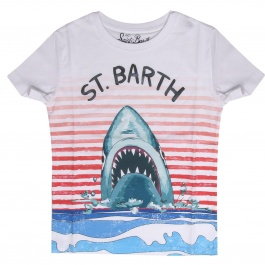 Футболка MC2 SAINT BARTH TSHIRT BOY SHARK STRIPES 01