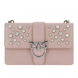 Crossbody bags Pinko 1P216H-Y4YB LOVE LEATHER PEARLS TRACOLLA