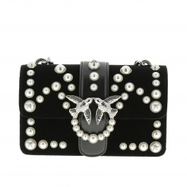 Mini bag Pinko 1P219R-Y4YC MINI LOVE VELVET PEARLS