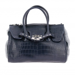 Borsa a mano Secret Pon-pon 385.002 MISS MOON CROCO FUR