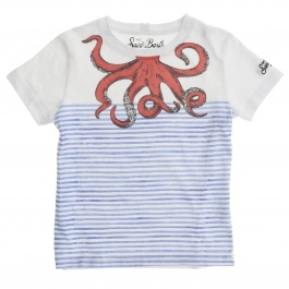 T-shirt Mc2 Saint Barth TSHIRT BOY OCTOPUS INK 0161