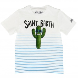 T-shirt Mc2 Saint Barth TSHIRT BOY CACTUS SMILE 0131