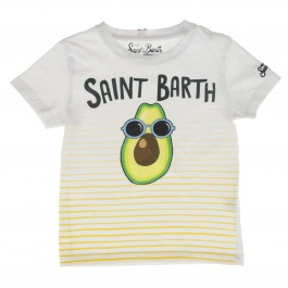 T-shirt Mc2 Saint Barth TSHIRT BOY AVOCADO STRIPES 0191