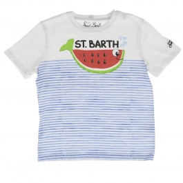 T-shirt Mc2 Saint Barth TSHIRT BOY WHALE WATERMELON 01