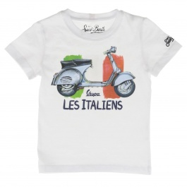 T-shirt Mc2 Saint Barth TSHIRT BOY WATERCOLOR VESPA 01