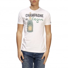 T-shirt Mc2 Saint Barth TSHIRT MAN VEGAN CHAMPAGNE 01
