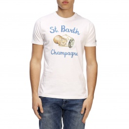 T-shirt Mc2 Saint Barth TSHIRT MAN CHAMPAGNE CORK 01