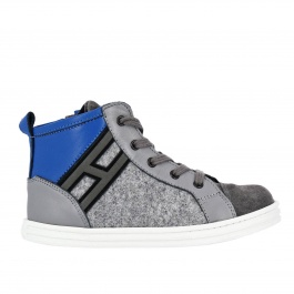 Hogan. Sneaker Rebel Junior in camoscio ... 95c59b16891