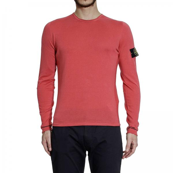 Stone Island Men S Coral Sweater Roundneck Cotton Light