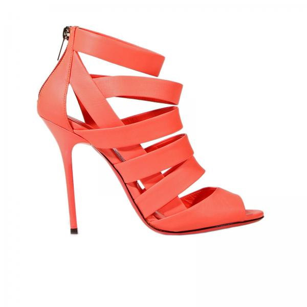 Jimmy Choo Women's Orange Leath... fake sale online very cheap footlocker pictures sale online free shipping sale 923fIv