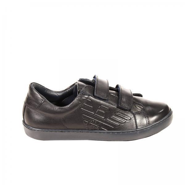 EA7 Juniors Mesh Velcro Trainers Black