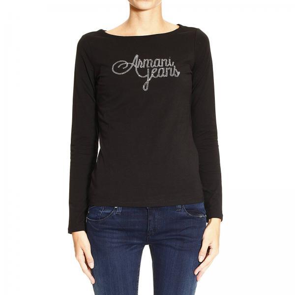 T Logo Girocollo Z5h11 JeansManica Lunga It Ab Strass Shirt Armani Donna Giglio Ygybf67v