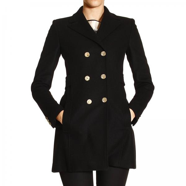 Cappotto Donna Versace Collection Nero  02cc568ec893