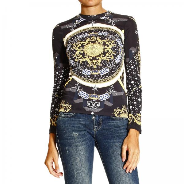 Versace Collection Women's T-shirt | Long Sleeve Crewneck In Jersey With  Barocco Print | Versace T-shirt G31630 G601728 - Giglio EN