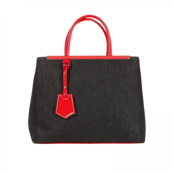 Наплечная сумка Женское FENDI 2jours Large Leather