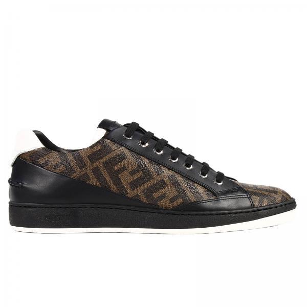 Fendi Men s Tobacco Sneakers   Sneakers Zucca   Fendi Sneakers 7e0781 W9y -  Giglio EN e49e4143345