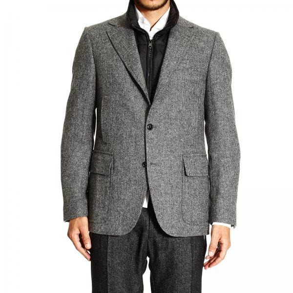 buy popular 8d673 32c02 Blazer Double Jacket Wool Tweed With Detachable Gilet