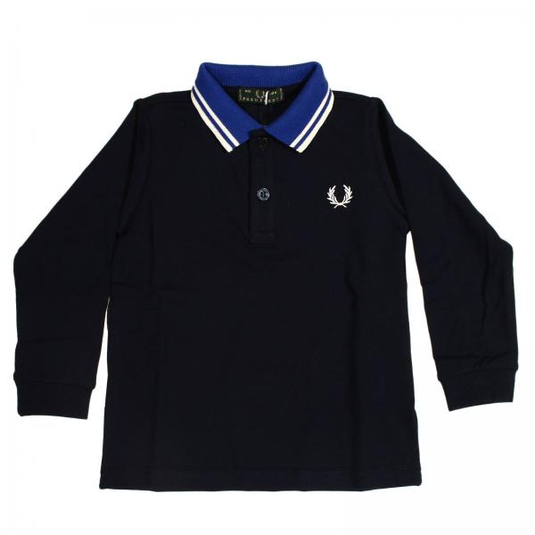 f90a6901d3e77e T-shirt neonato Fred Perry   Polo Piquet Manica Lunga Contrasti   T-shirt Fred  Perry 3916 2415 - Giglio IT