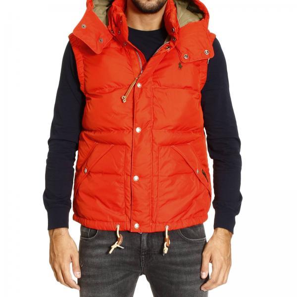 Homme OrangeBlouson Veste Polo Ralph Lauren Pour 9IYHWD2E
