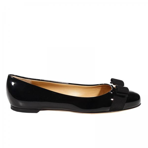 aa134b7d0e43 Flat shoes Women Salvatore Ferragamo Black