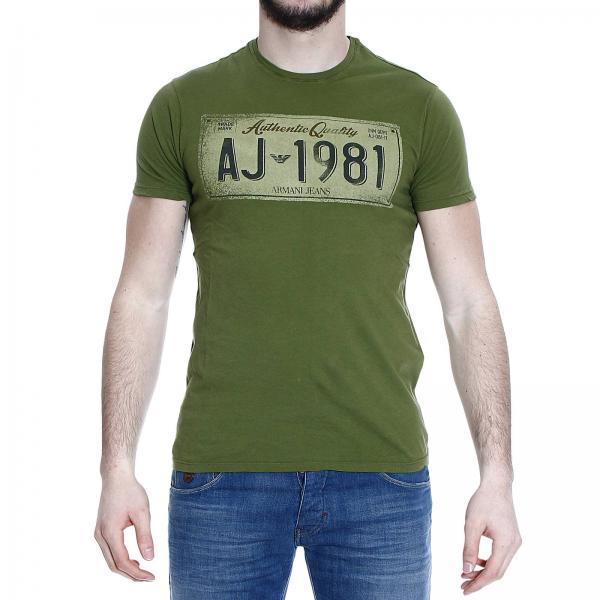 45dfb4ed15d T-shirt Men Armani Jeans Green