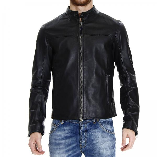 Giacca armani jeans pelle