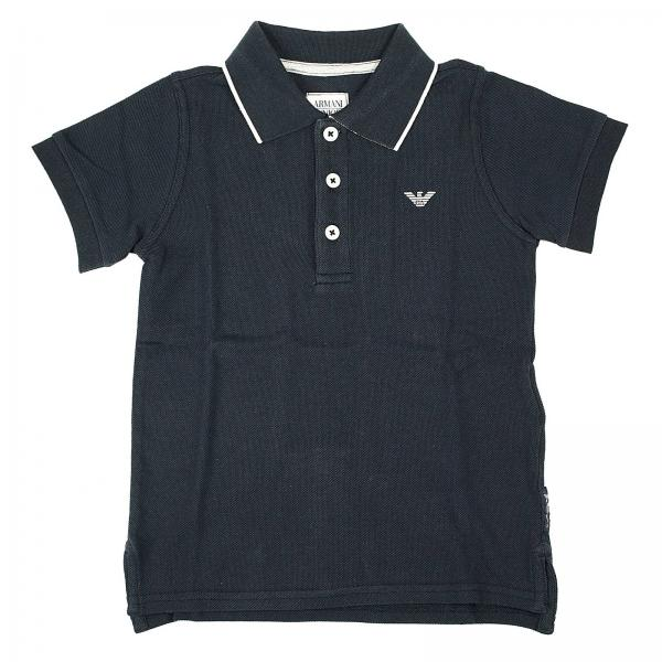 Logo Junior Collo Shirt T Mezza Piquet Manica Armani Polo Bambino qw8zZwt