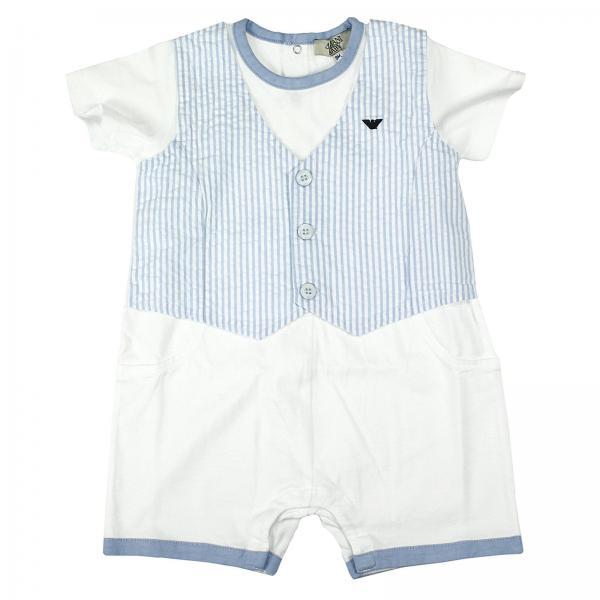 ad0e0135a9d0 Armani Junior Baby s Sky Blue Romper