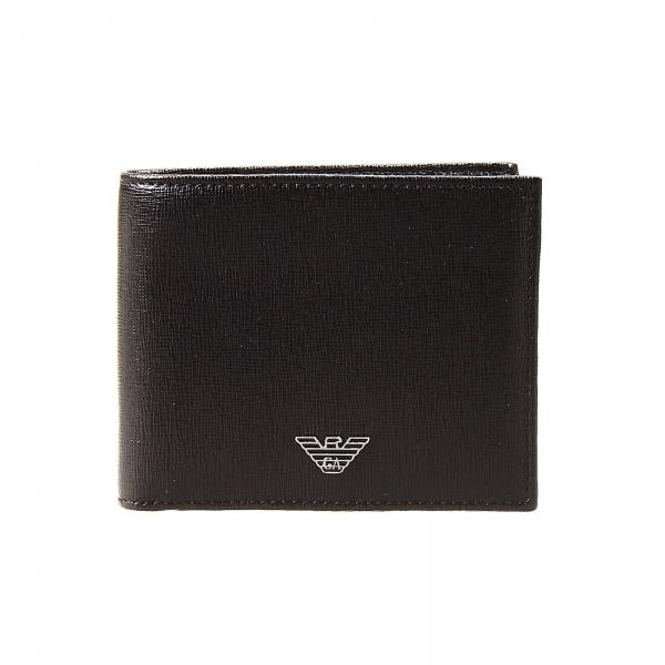 Emporio Armani Men's Black Wallet | Wallet Leather Credit Card Holder |  Giorgio Armani Wallet Yem122 Ya24e - Giglio EN