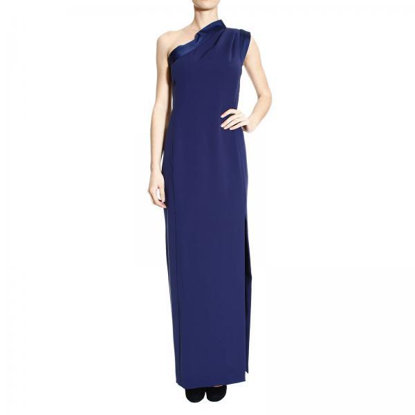 Emporio Armani Women\'s Blue Dress   Long Shoulder Dress Cady ...