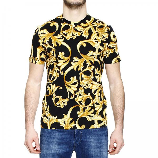 versace t shirt mit barock print. Black Bedroom Furniture Sets. Home Design Ideas