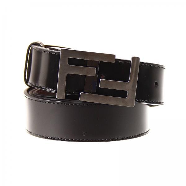 negozio online ef750 fc420 Cintura Fibbia Logo Pelle Reversible/adjustable