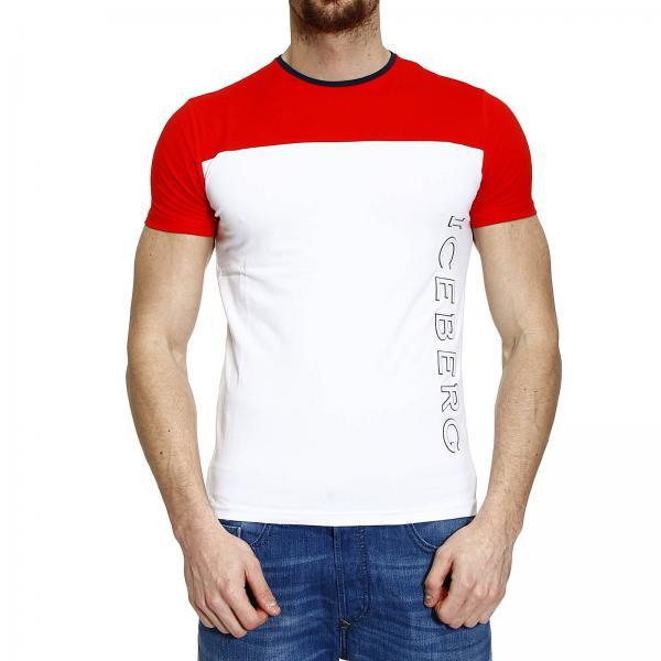 ad40507e7f7c4b Футболка Мужское ICE ICEBERG | T-shirt Half рукав Crew-neck Bicolor Con  Logo Patch | Футболка ICEBERG F194 6309 - Giglio RU