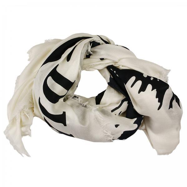 diesel mens neck scarf foulard scindi logo contrast