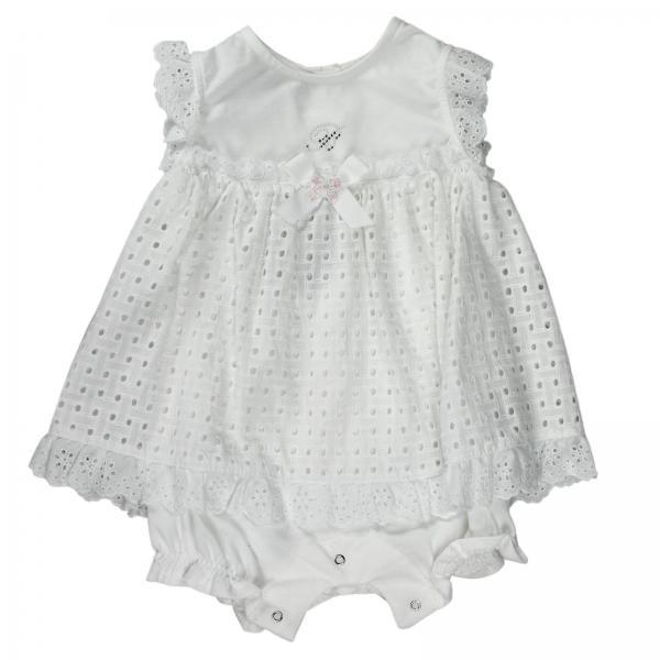 Abito neonato Miss Blumarine Jeans Bianco  e589a9a3bb57