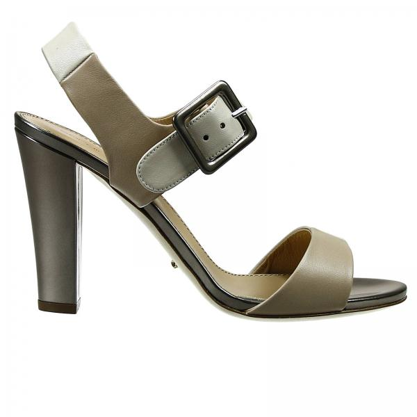 Sergio Rossi Bi-Color Leather Sandals sale best store to get Et8iiqLe