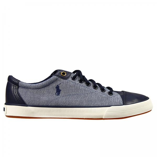 Polo Ralph Lauren Mens Sneakers  Shoes Klingerne Sneakers Chambray E  Ecoleather With Logo  Polo Ralph Lauren Sneakers A85y2065 C0210  Giglio EN
