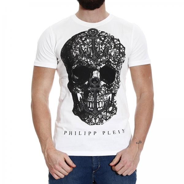 T-shirt Uomo Philipp Plein | Mezza Manica Girocollo Stampa Teschio Con  Strass | T-shirt Philipp Plein Hm345625 - Giglio IT