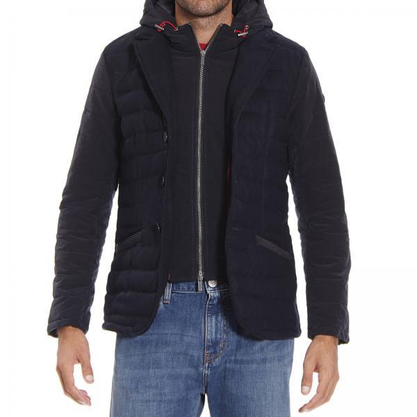 Con Armani Giacca Jacket Field Finto Gilet Jeans Uomo Blue wrrxgU65Yq