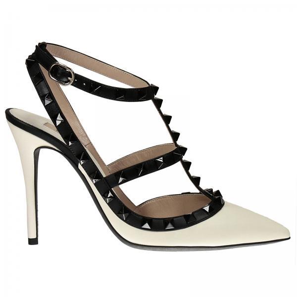 Scarpe Rockstud Bianco 10 Garavani Valentino Con Donna Tacco v7wHxqfvOr