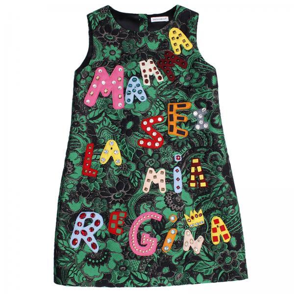 f21e8840 Dolce & Gabbana Little Girl's Green Dress | Dolce & Gabbana Dress ...