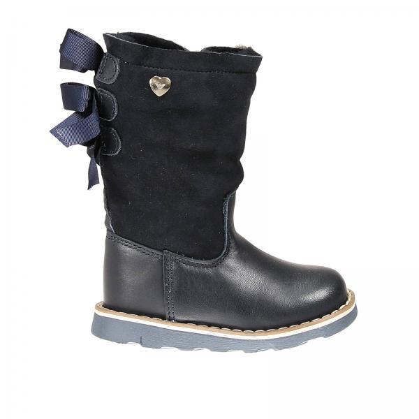Scarpe bambina armani junior blue stivale pelle e for Interno 1 scarpe