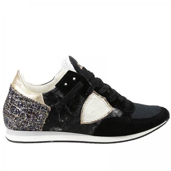 sneakers f r damen philippe model schwarz sneakers philippe model trld xs giglio de. Black Bedroom Furniture Sets. Home Design Ideas