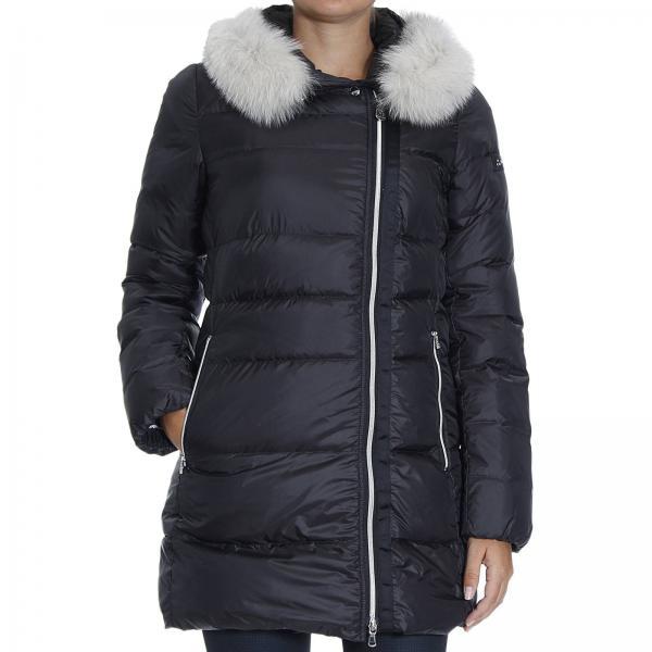 the best attitude 3684e 41848 Giacca Loyal Mrq Fur Piumino Lungo Zip Asimmetrica E Pelliccia Stacc