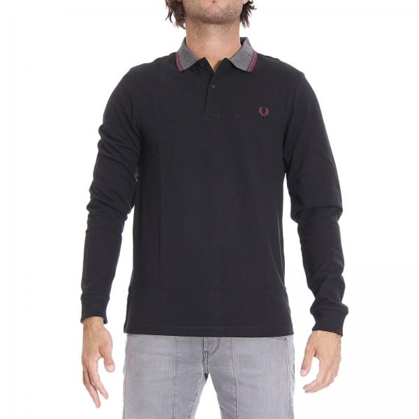 Polo Fred Perry Uomo Manica Lunga