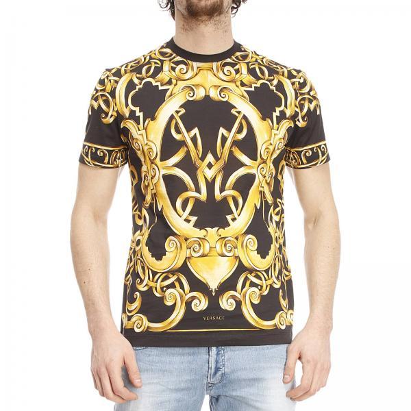 versace t shirt gold