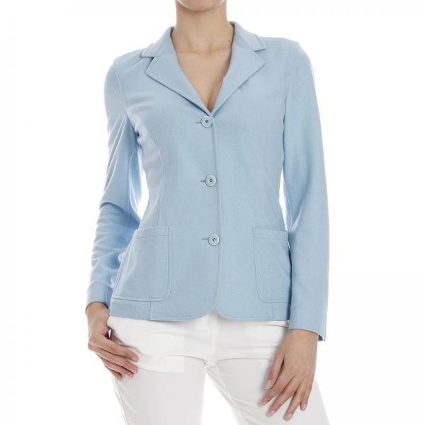 best website 37e75 14c8d Blazer Giacca 3 Bottoni Jersey Misto Cachemire E Seta